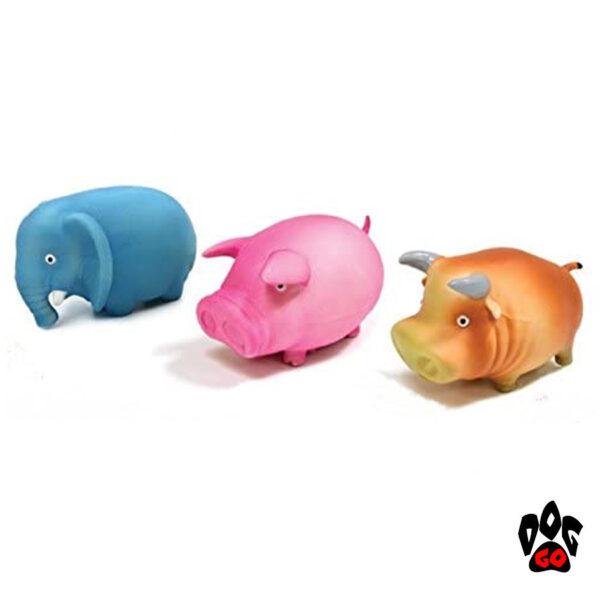Игрушки для собак, с пищалкой CROCI Толстячки-животные, винил, 9см-1