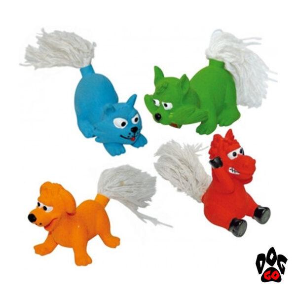 Игрушки для собак Животные хвостатые с пищалкой CROCI, винил, 25см-1