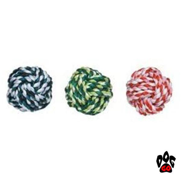 Мяч из веревки для собак CROCI канатный, 6.5см-1
