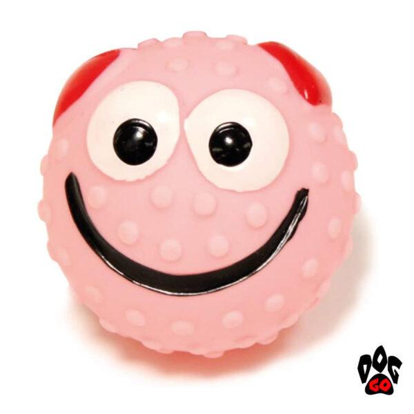 Мяч-пищалка для собак CROCI Смайлик, винил, 6.5см-2