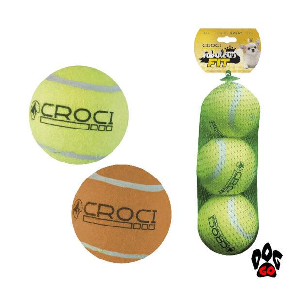 Мячик для собак теннисный, с пищалкой CROCI, 3.8см-1