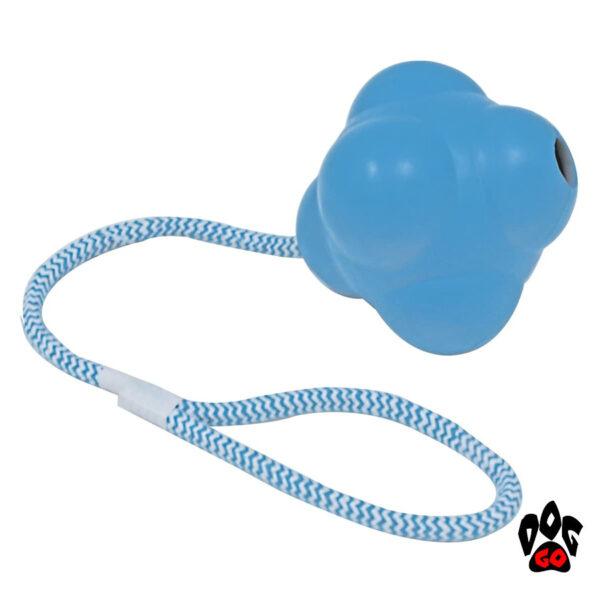 Прочная игрушка для собак на веревке CROCI литой атом, резина 13х51см-1