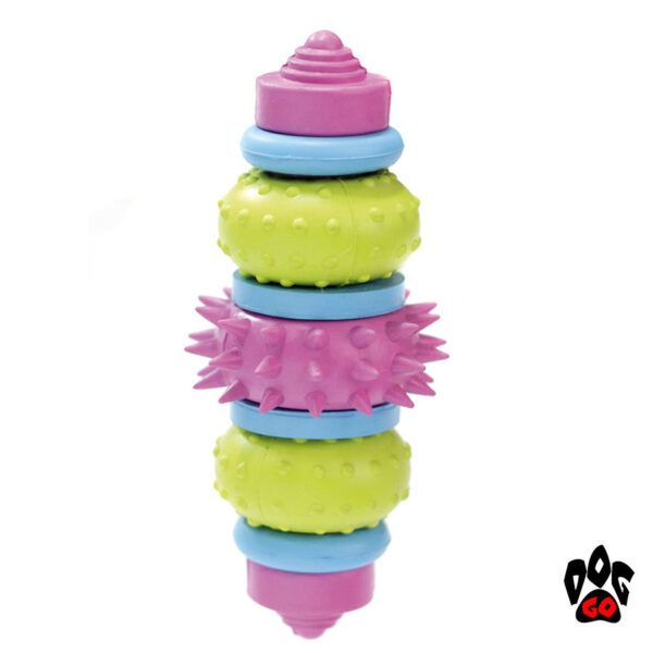 Прочная игрушка для собаки CROCI Литая шестеренка, резина 13см-1