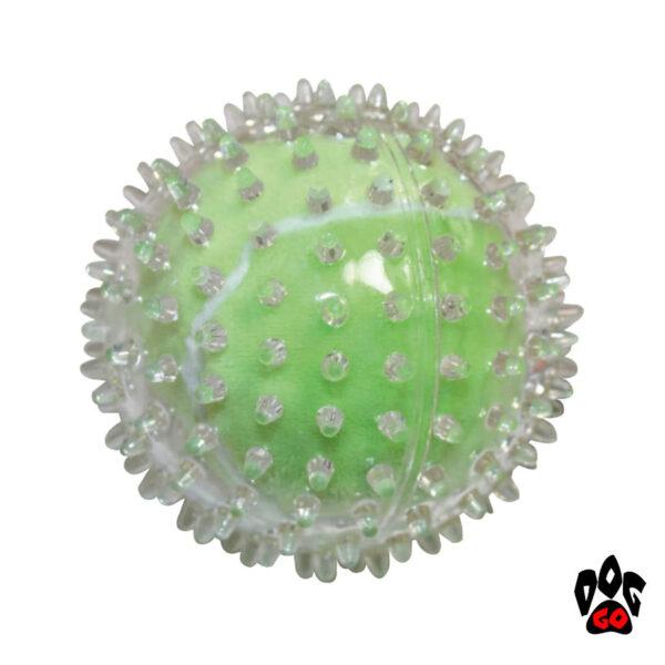 Резиновые мячики для собак CROCI, шипованные, 9см-2