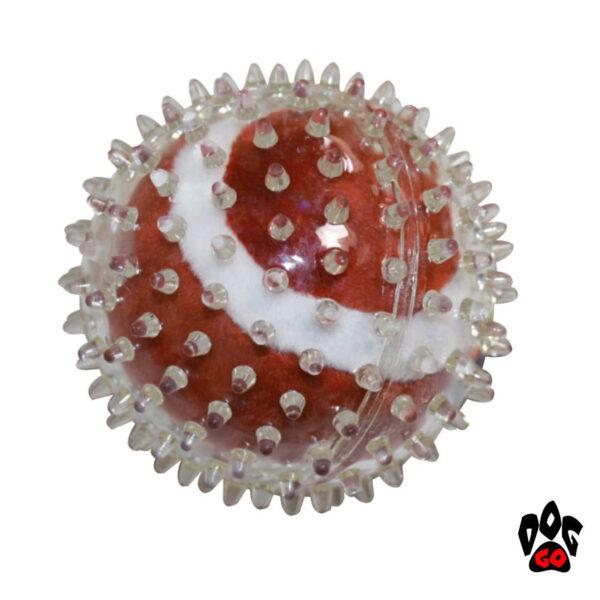 Резиновые мячики для собак CROCI, шипованные, 9см-5