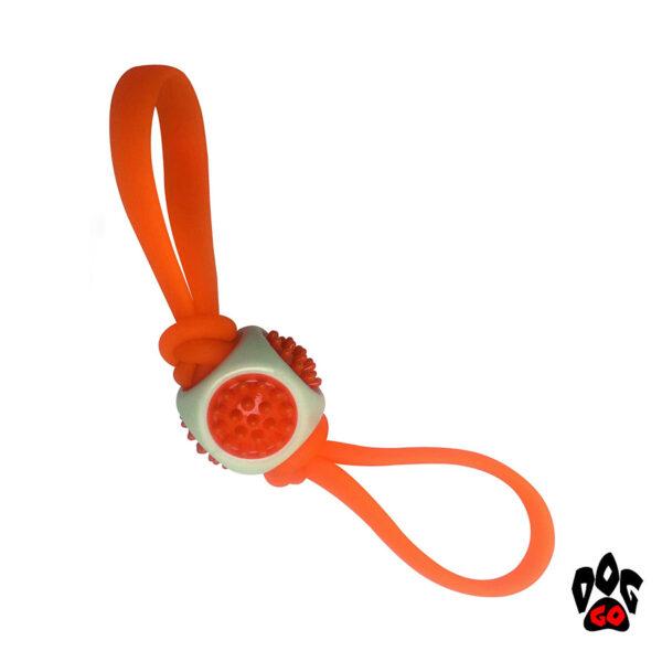 Сверхпрочная игрушка для собак CROCI Дис-куб, оранжевый, резина+силикон, 27х6х6см-1