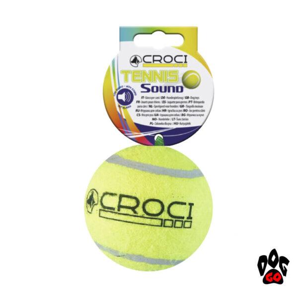Теннисный мяч для собаки CROCI, пищалка-1