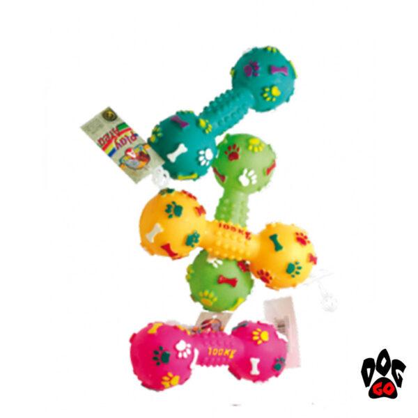 Виниловая игрушка для собаки CROCI Гантеля, 14.5см-1
