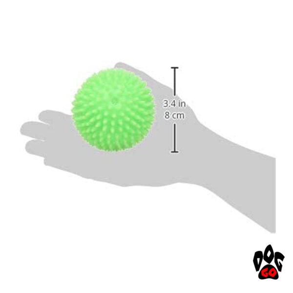 Виниловый мячик-пищалка для собак Ёжик CROCI, Д=8см-2