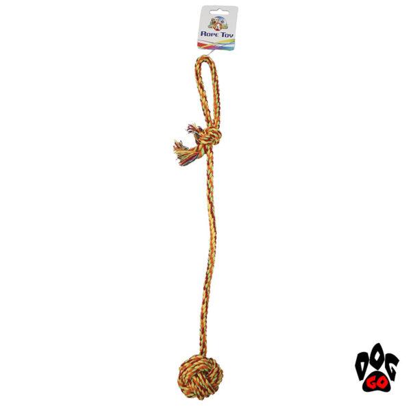 Хлопковый канат для собак CROCI, грейфер Узловой мяч с длинной ручкой, 56см-1