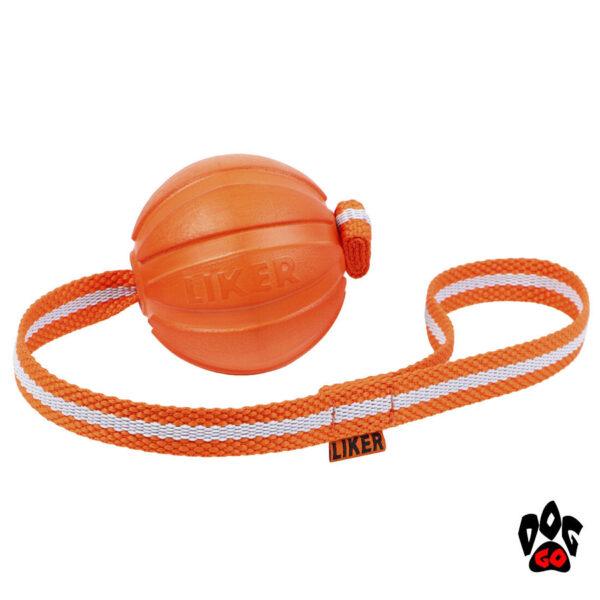 Мяч для собак прочный, на веревке ЛАЙКЕР Лайн COLLAR-2