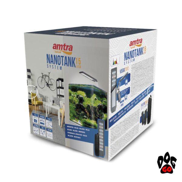 Аквариум 15 литров AMTRA NANOTANK 15, панорамный (30x20x25см), 5мм-2