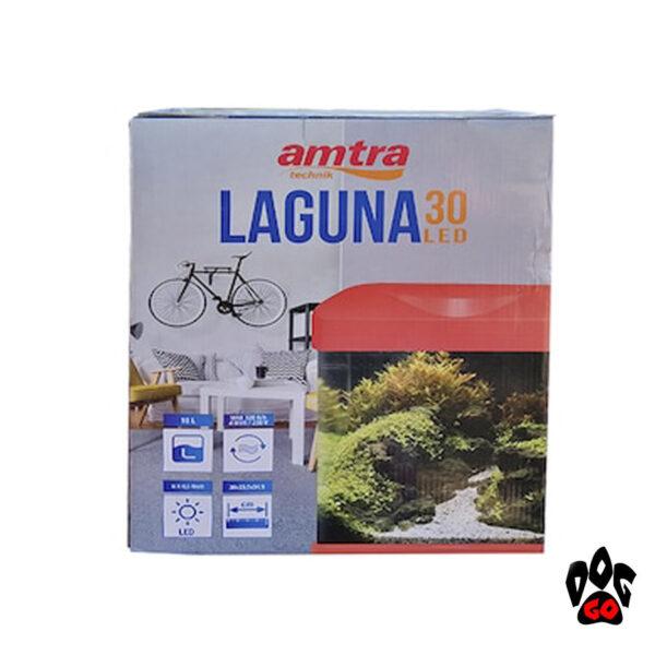 Аквариум 18 литров AMTRA LAGUNA 30 LED, коралловый (30x23.5x34.5см) 3 watt 4мм-4