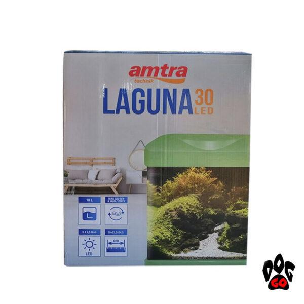 Аквариум AMTRA LAGUNA 30 LED, зеленый, 18л (30x23.5x34.5см) 3watt 4мм-3