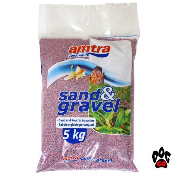 AMTRA кварцевый грунт для аквариума AMTRA Wave ROSA, пурпурный, 4мм, 5кг-1