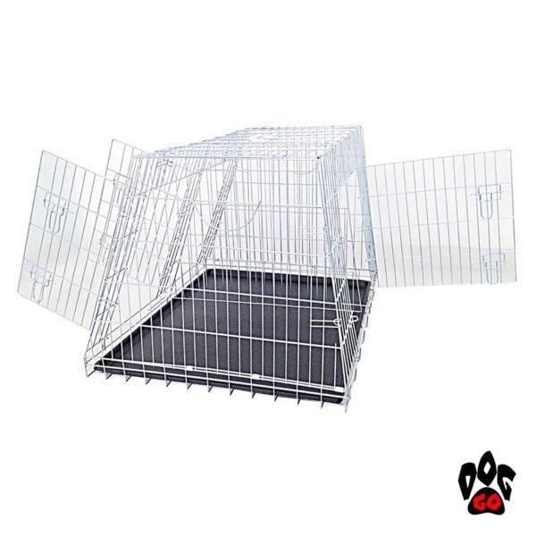 Клетка для собак в машину CROCI, цинк, 2 двери, 93х79х68см