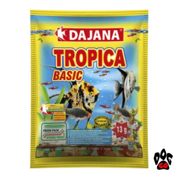 Корм для аквариумных рыбок DAJANA Tropica Basic, хлопья для всех видов-1