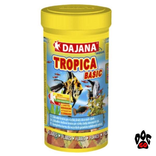Корм для аквариумных рыбок DAJANA Tropica Basic, хлопья для всех видов-2