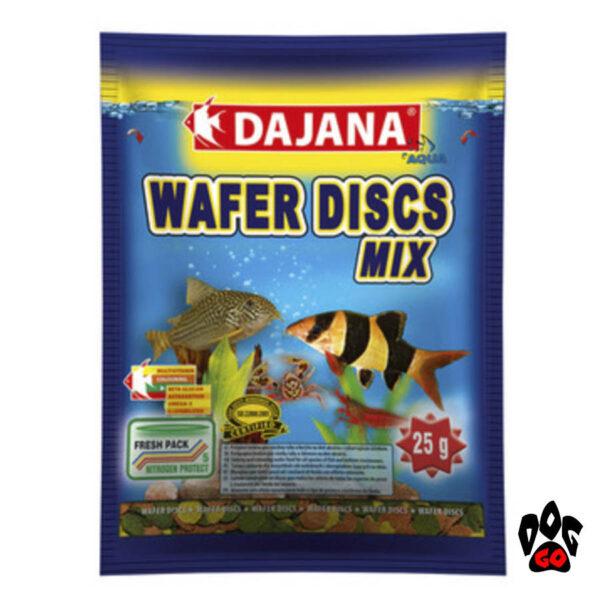 Корм для донных аквариумных рыб DAJANA Wafer Discs mix, чипсы-1