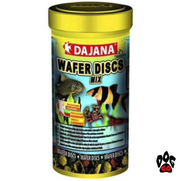 Корм для донных аквариумных рыб DAJANA Wafer Discs mix, чипсы-2
