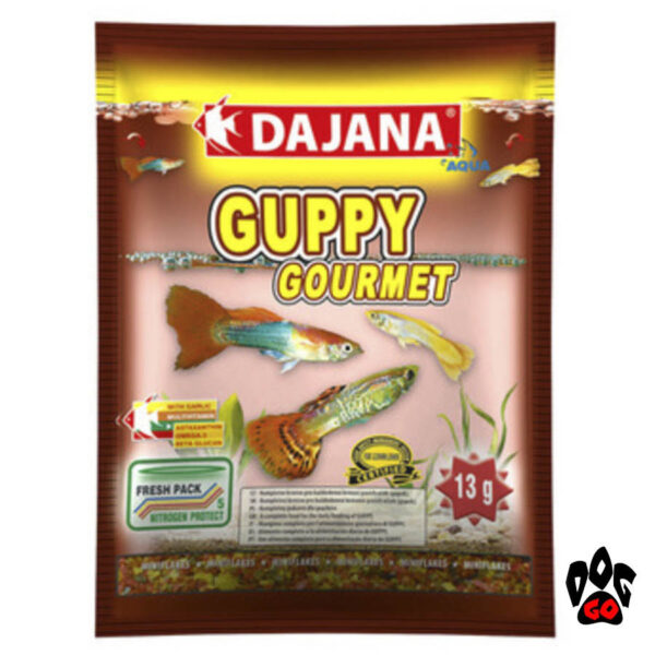 Корм для гуппи DAJANA Guppy Gourmet, хлопья с чесноком-1