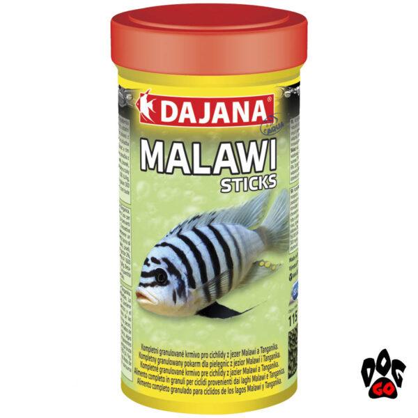 Корм для малавийских цихлид DAJANA Malawi Sticks, в пелетах-1