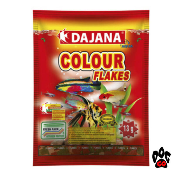 Корм для рыбок хлопья DAJANA Colour Flakes для естественной окраски-1