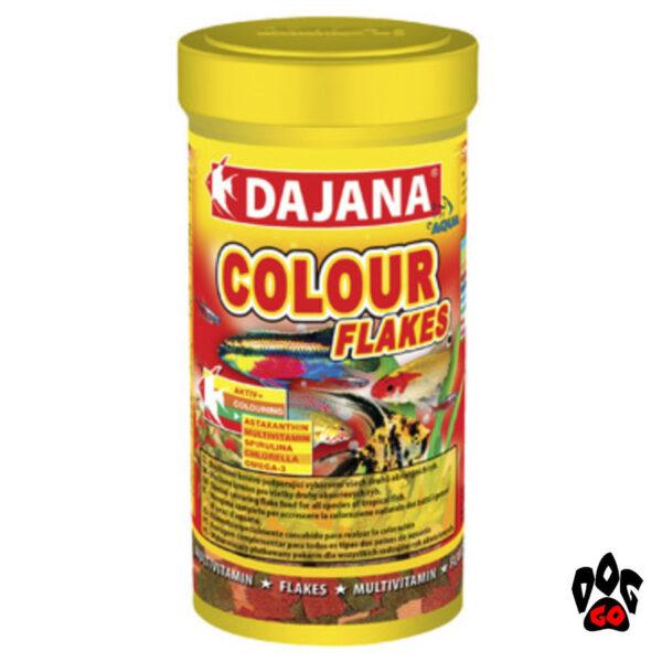 Корм для рыбок хлопья DAJANA Colour Flakes для естественной окраски-2