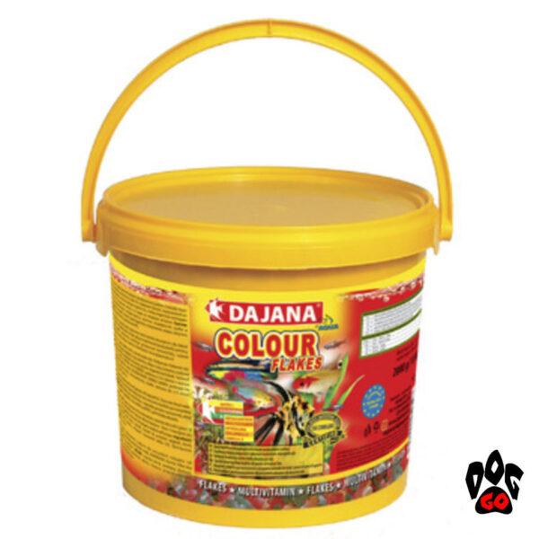 Корм для рыбок хлопья DAJANA Colour Flakes для естественной окраски-3