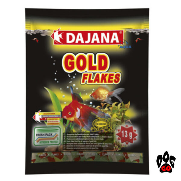 Корм для золотых рыбок и карасей в аквариуме DAJANA Gold Flakes, хлопья-1