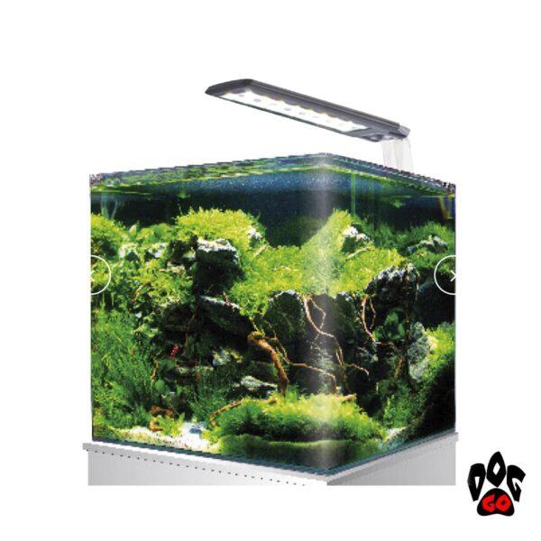 Панорамный аквариум 18 литров AMTRA NANOTANK CUBO SYSTEM 20 (25x25x30см), свет Vega 6.8Вт, фильтр Click251-1