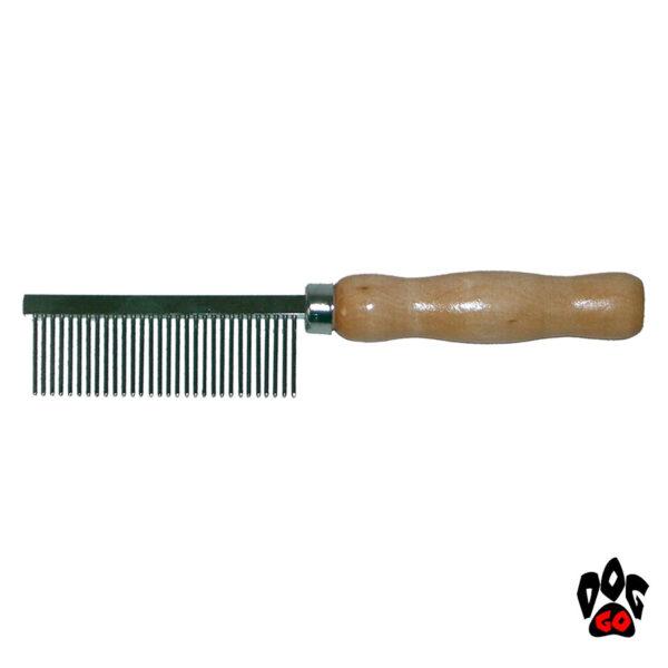 CROCI Расческа для собак и кошек, с деревянной ручкой, медиум 3.5х18.5см-1