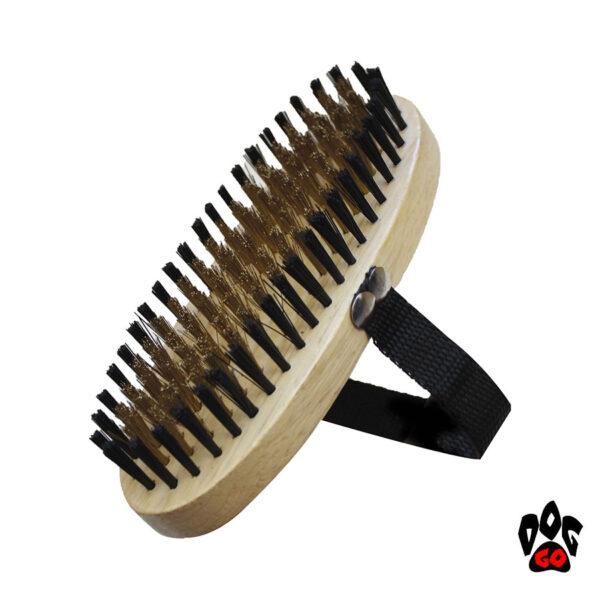 CROCI Щетка для собак деревянная, наручная-1
