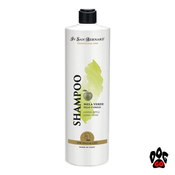 """IV SAN BERNARD """"Green Apple Shampoo"""" Шампунь для длинношерстных собак и кошек от колтунов, с яблоком, 1литр"""