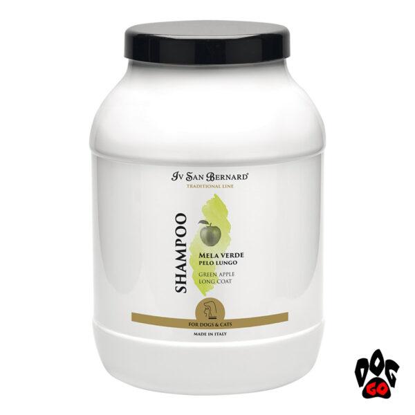 """IV SAN BERNARD """"Green Apple Shampoo"""" Шампунь для длинношерстных собак и кошек от колтунов, с яблоком, 3литра"""