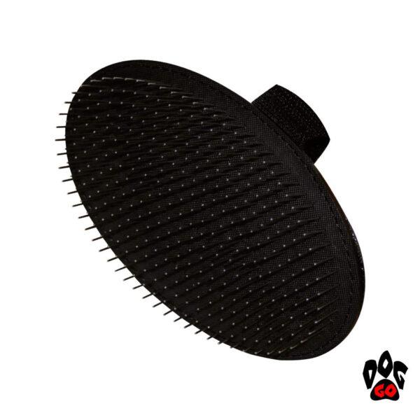 Массажная щетка для собак CROCI пуходерка наручная, с напылением-1