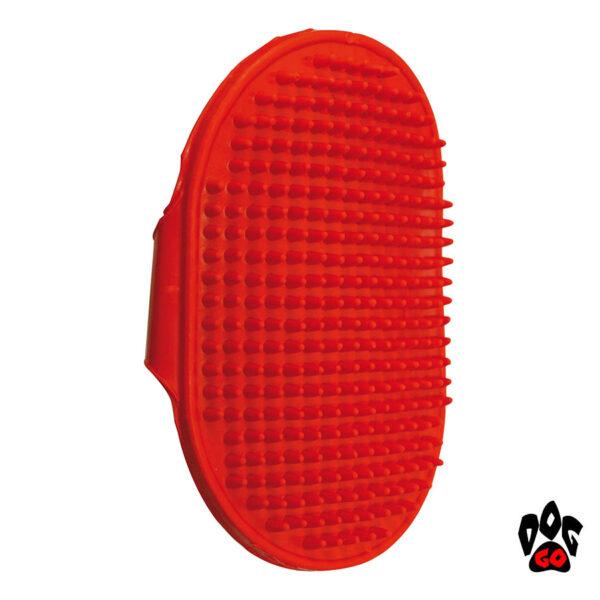 Резиновая щетка для собак CROCI наручная, 9х13см-1