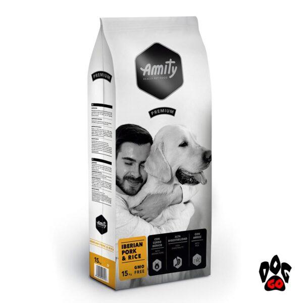 AMITY Iberiab Pork&Rice Диетический корм для собак, с иберийской свининой и рисом, 15кг
